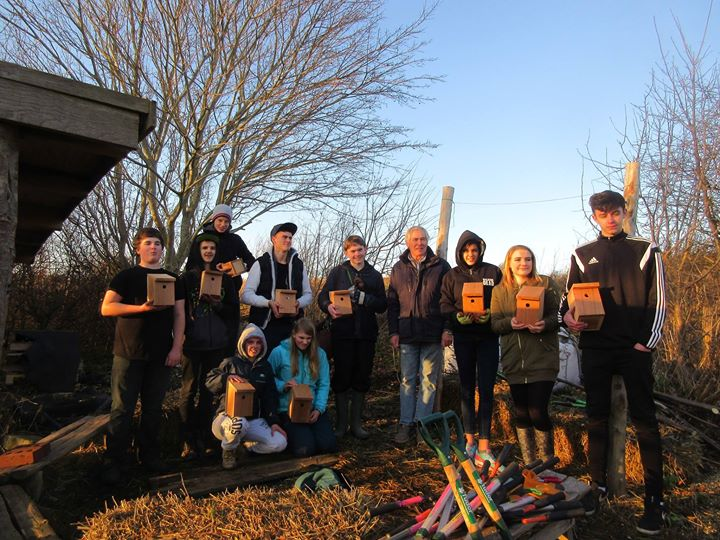 Bird-box making at the Allotment with Jim from the Monday Group